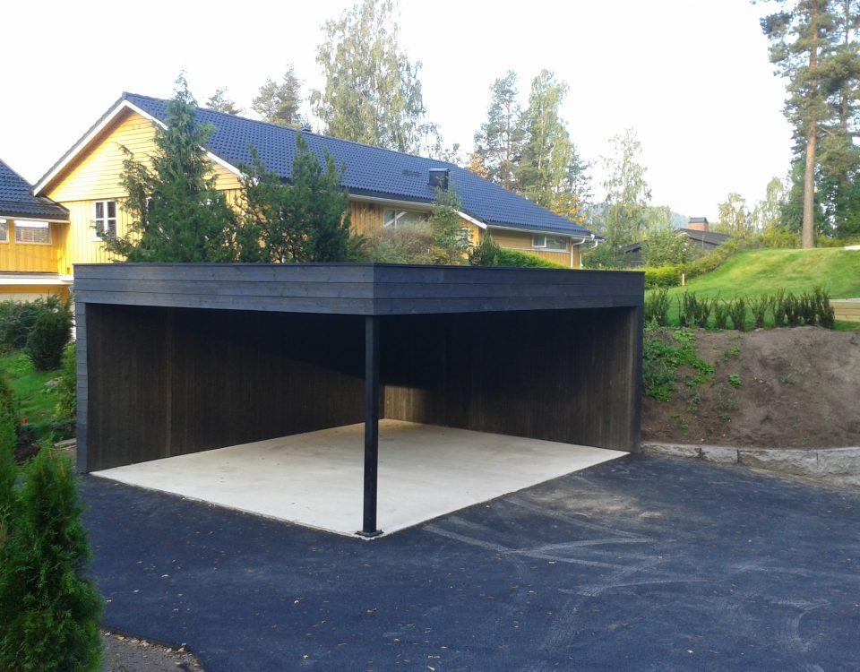 Garasje i Hosle oslo bygg design garage